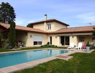 Maison neuve et piscine à Saint-Romain-de-Jalionas (38460)